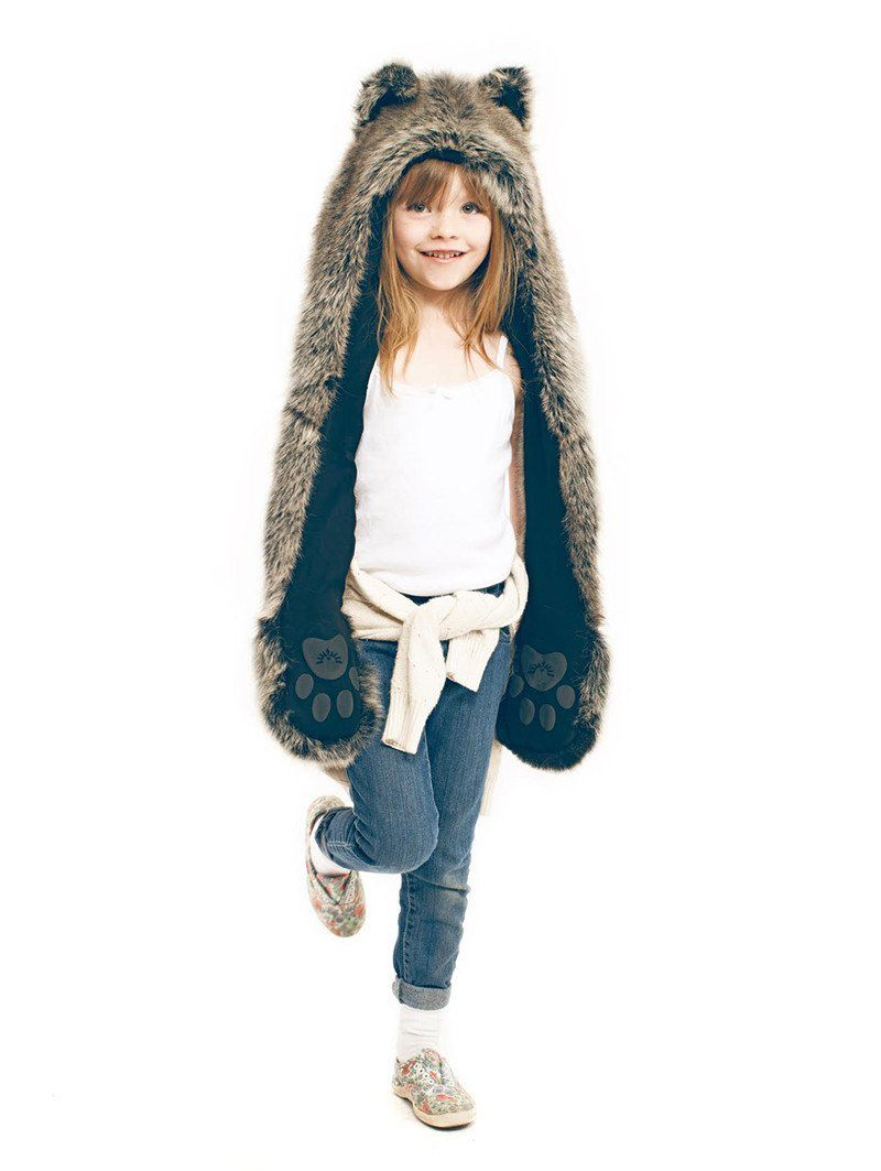 Grey Wolf + Kids Grey Wolf Bundle! - SpiritHoods