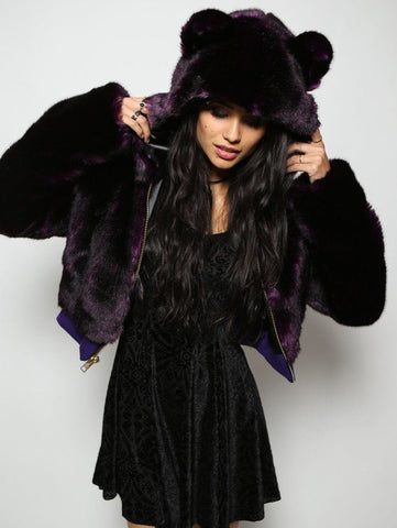 Midnight Purple Wolf Crop Jacket