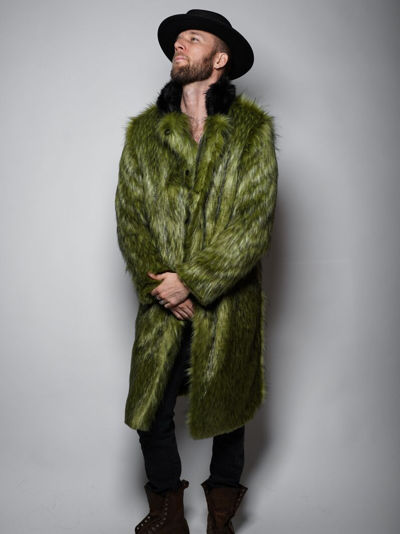 Jade Fox Calf Length Faux Fur Coat