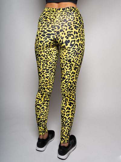 Neon Yellow Cheetah Velvet Leggings - SpiritHoods