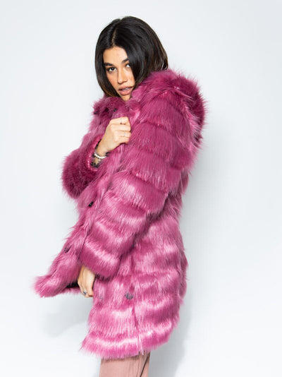 Rose Finch Collector Edition Faux Fur Coat - SpiritHoods