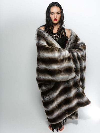 Chinchilla Italy Faux Fur Throw - SpiritHoods
