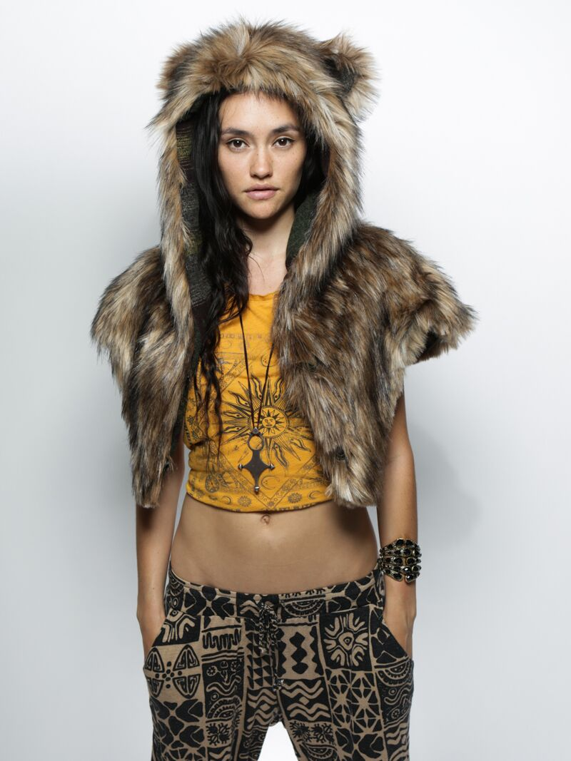 710050882 SpiritHoods® | SpiritHoods Grizzly Italy Faux Fur Shawl