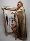 Brown Husky Faux Fur Throw - SpiritHoods