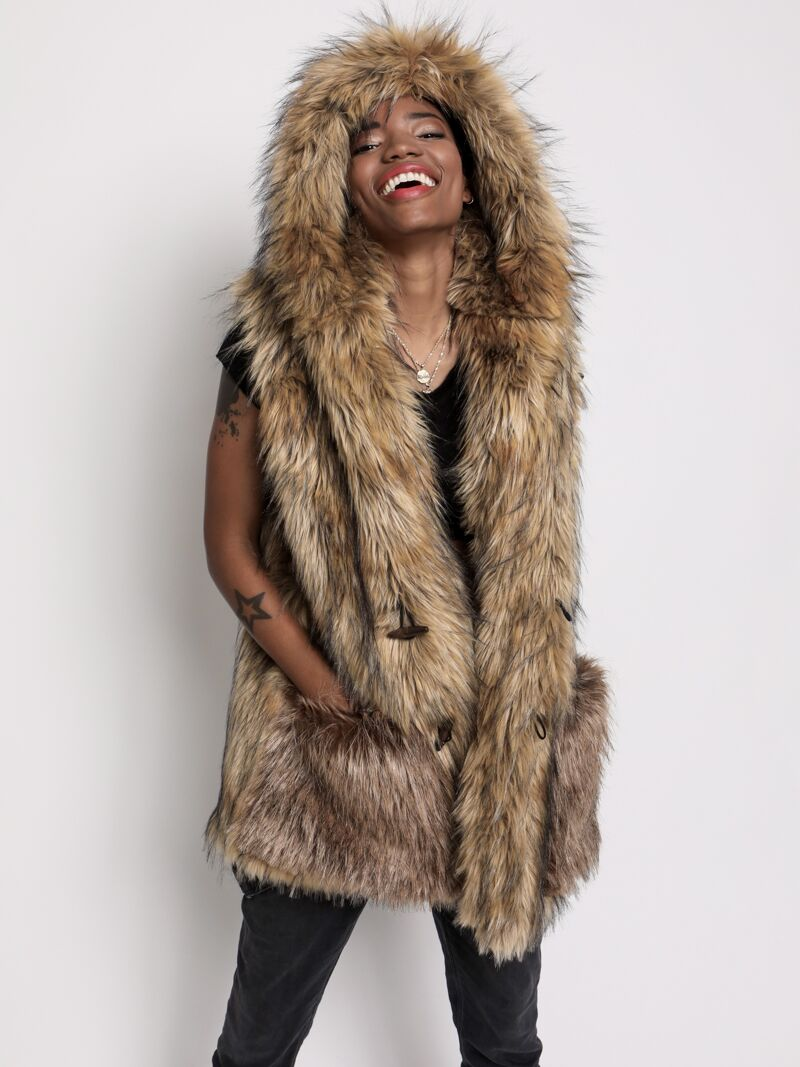 Golden Jackal Faux Fur Vest