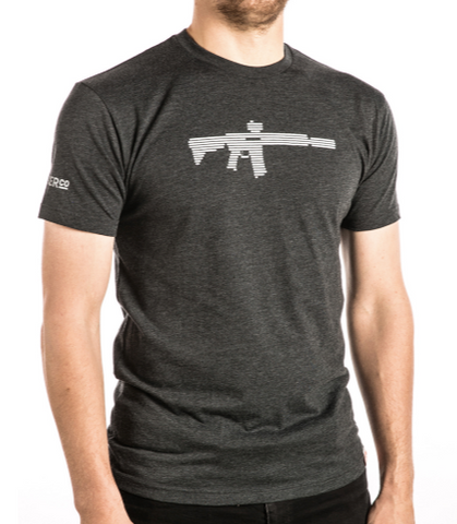 AR Black and White T-Shirt - Waymore Silencers
