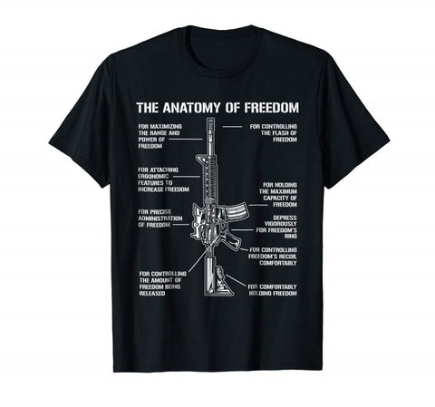 Anatomy Of Freedom M4 T Shirt 100% Cotton - Waymore Silencers