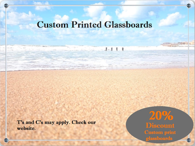 Custom printed parrot products glassboards