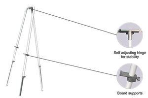 Standard Non-Magnetic Whiteboard and Easel (Steel Telescopic)