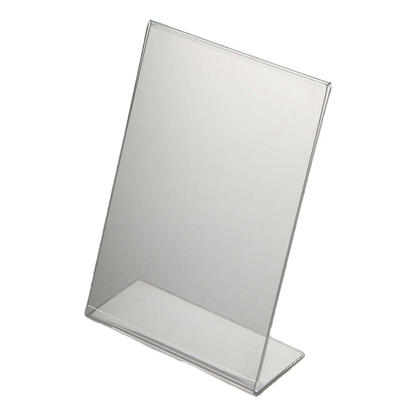 Acrylic Menu Holder Single Sided A 6 Portrait