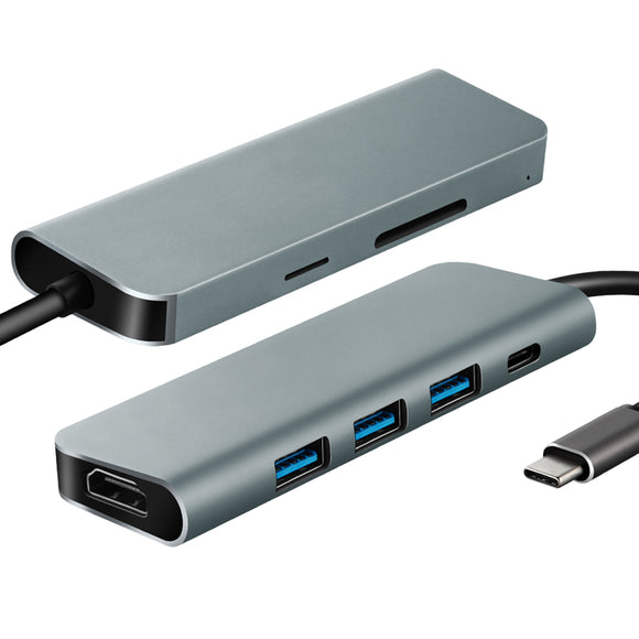 Adaptor b Usb C Hub 7 In 1 (hdmi X 1, Usb3 X 3,dp X 1, Sd X 1, Tf X 1)
