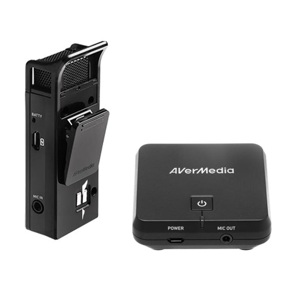 Audio Avermedia Wireless Microphone And Receiver