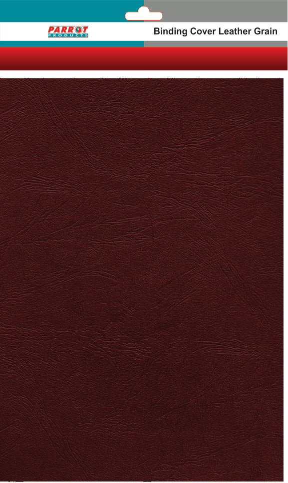 Binding Cover Leather Grain A 4 Brown 250gsm 25