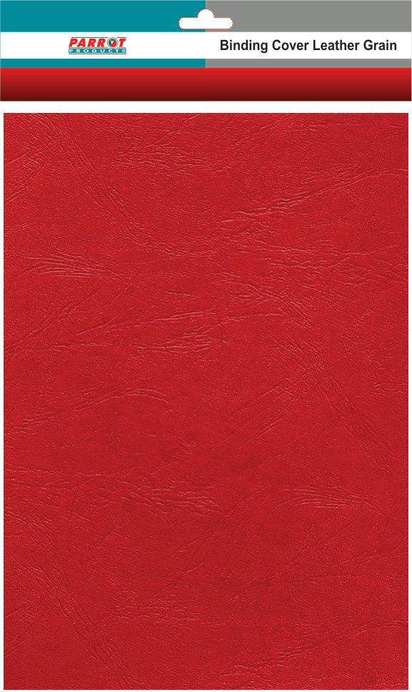 Binding Cover Leather Grain A 4 Red 250gsm 25