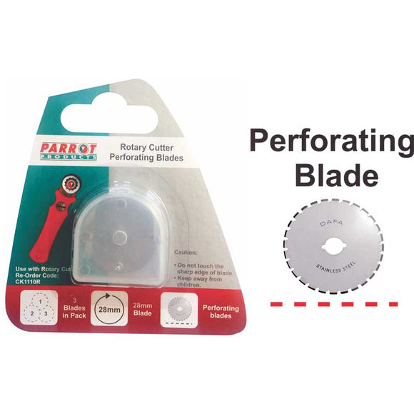 Craft Knife Rotary Blades 28mm Perforate