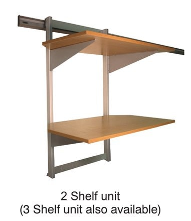 Easy Rail 3 Shelf Unit 750 500mm