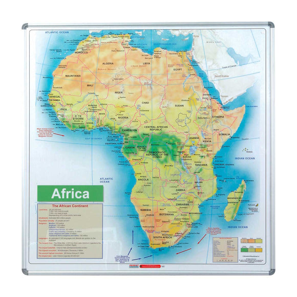Edu Bd Map Africa 1230x 1230mm Magnetic White
