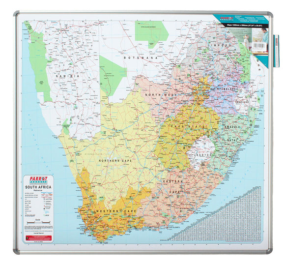 Edu Bd Map South Africa 1230 1230mm Magnetic White