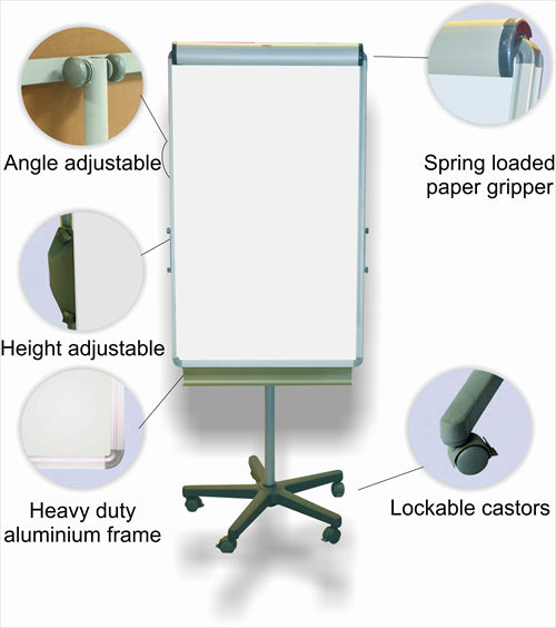 Flipchart Magnetic Castors 1000 640mm