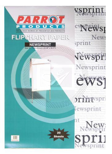 Flipchart Paper Newsprint 20 Sheets 860x610mm