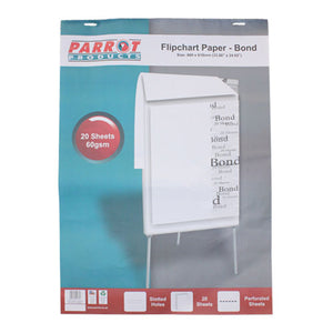 Flipchart Paper Bond 20 Sheets 860 610mm