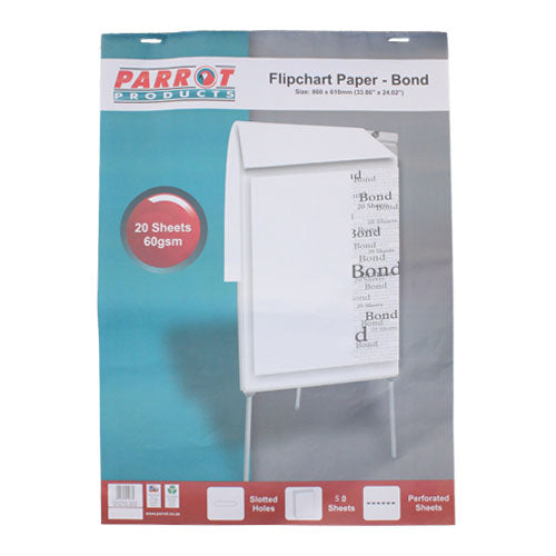 Flipchart Paper Bond 50 Sheets 860 610mm 60gsm