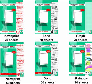 Flipchart Paper Rainbow 20 Sheets 860 610mm