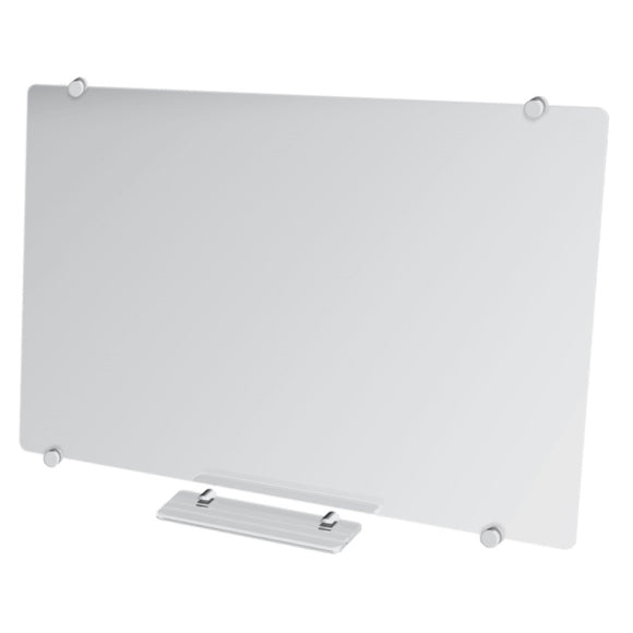 Glass Whiteboard Non Magnetic 2400 x 1200mm