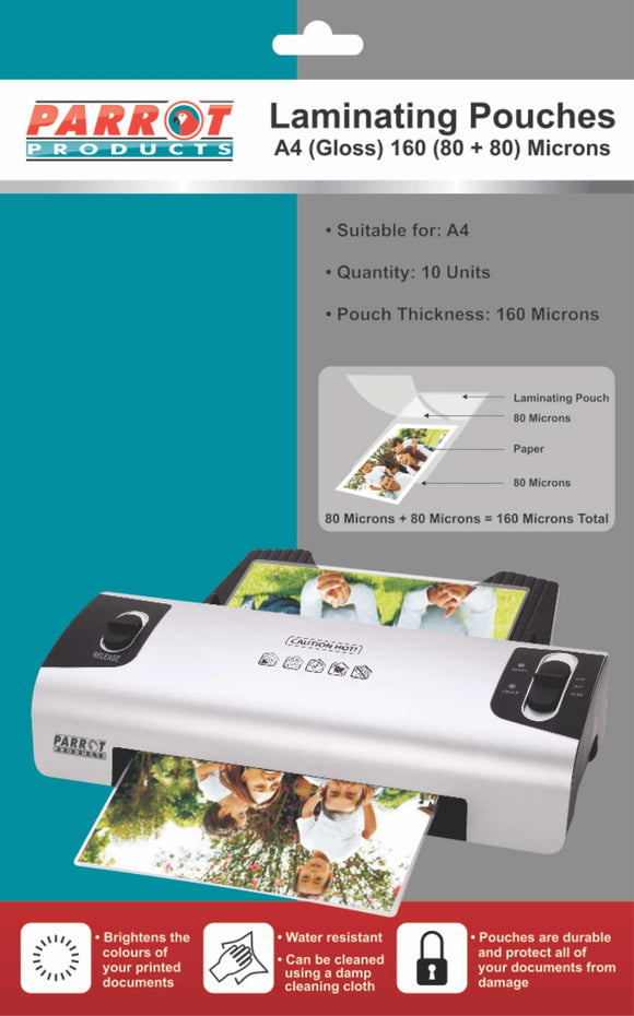 Laminating Pouch A 4 220x 310 160 80+80 Mic Pack 10