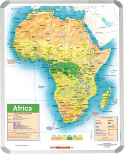 Map Africa General Educational 1200x 900mm