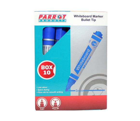Marker Whiteboard Bullet Box 10 D Blue