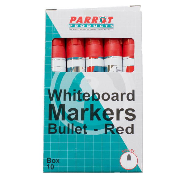 Marker Whiteboard Bullet Box 10 Red