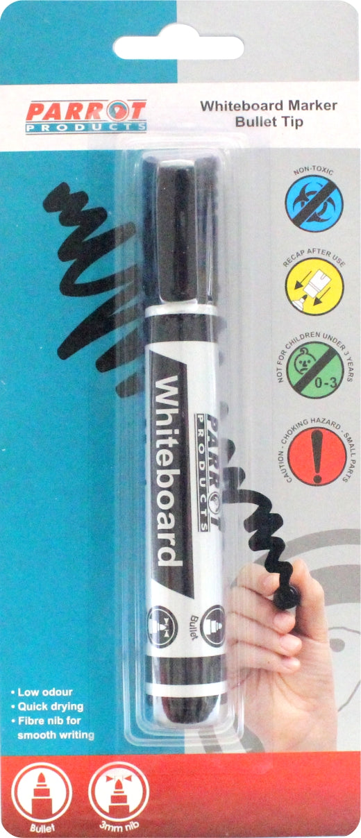 Marker Whiteboard Bullet Carded Black