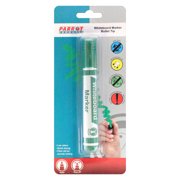 Marker Whiteboard Bullet Carded Green