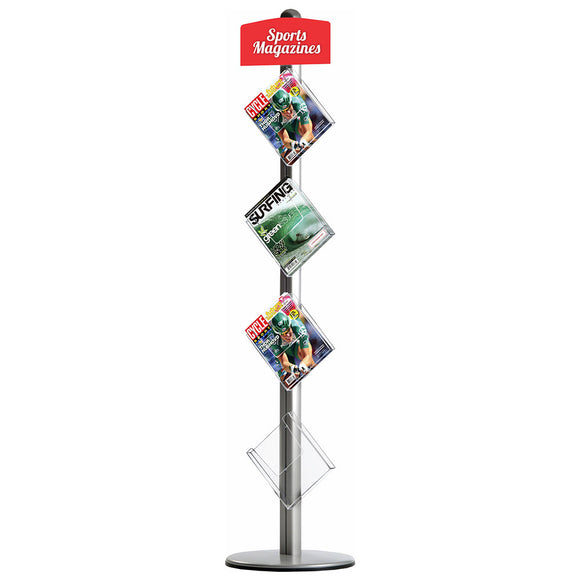 Novel Free Standing Brochure Holder