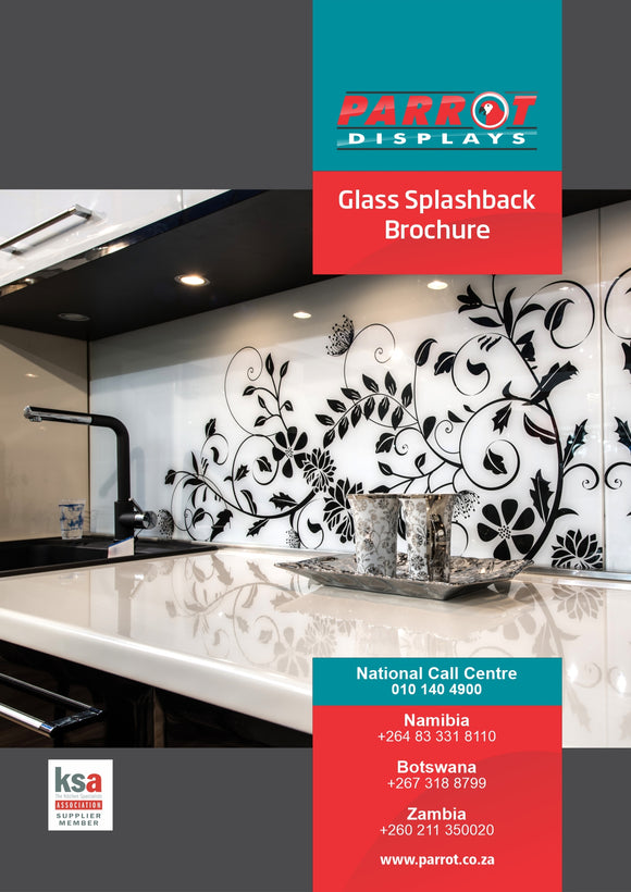 Parrot Catalogue Glass Splashback Brochure
