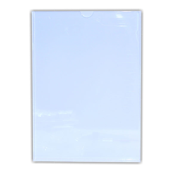 Perspex Pocket Clear White Backing A 4