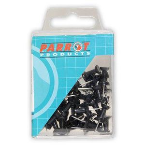 Push Pins Carded Pack 30 Black
