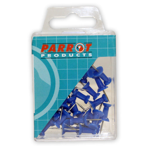 Push Pins Carded Pack 30 Blue