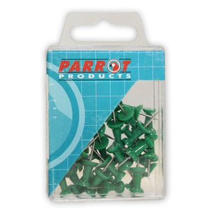 Push Pins Carded Pack 30 Green