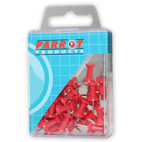 Push Pins Carded Pack 30 Red