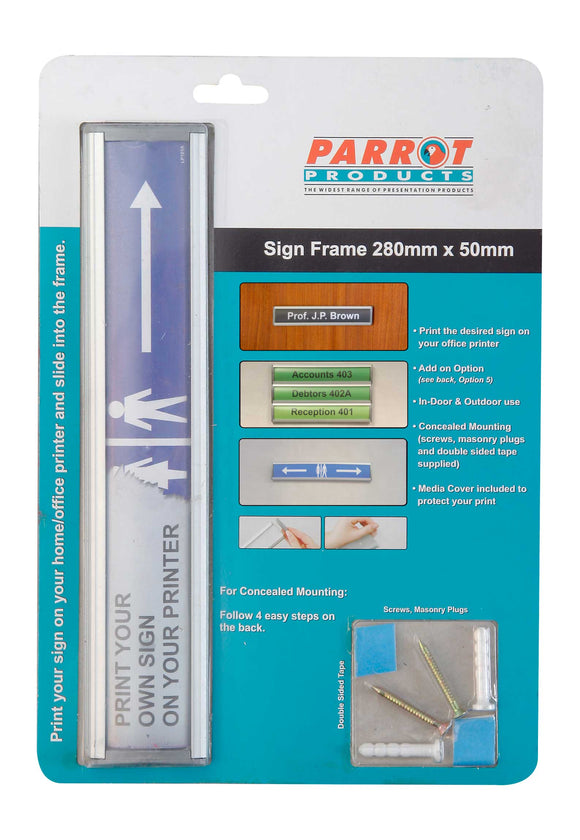 Sign Frame 50 X 280mm Retail Pack