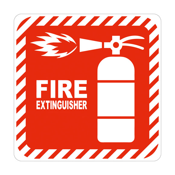Sign Symbolic 150 150mm Red Fire Extinguisher On White Acp