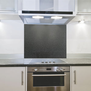 Splashback 598x 650x 4mm Hob Metallic Black