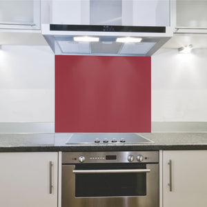 Splashback 598x 650x 4mm Hob Red
