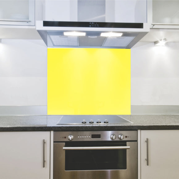 Splashback 598x 650x 4mm Hob Yellow