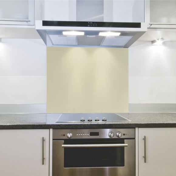 Splashback 598x 650x 4mm Ivory Satin Hob
