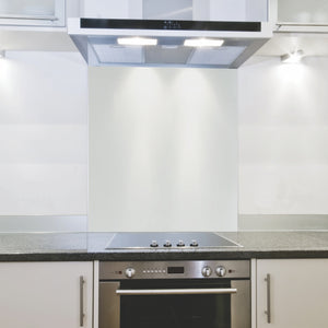Splashback 598x 650x 4mm White Hob