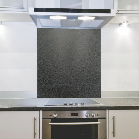 Splashback 898x 700x 4mm Hob Metallic Black