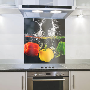 Splashback 898x 700x 4mm Peppers Hob